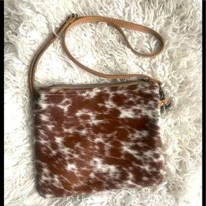Beautiful Western cowhide purse - EUC